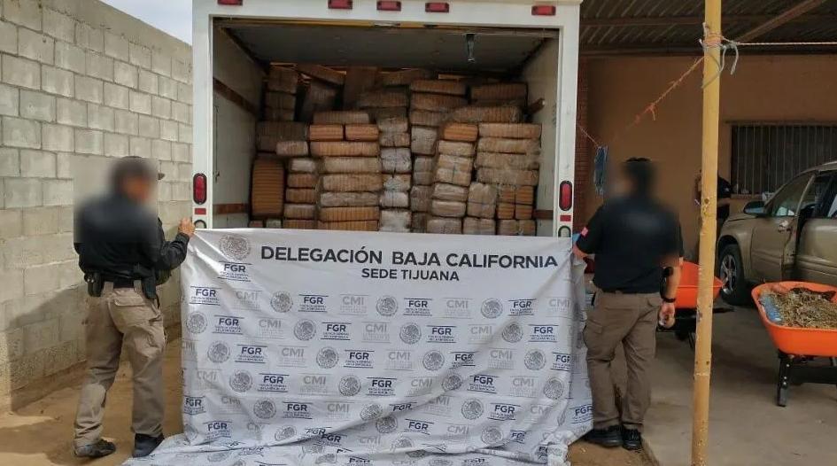 Millonario decomiso de drogas al Cártel Tijuana Nueva Generación