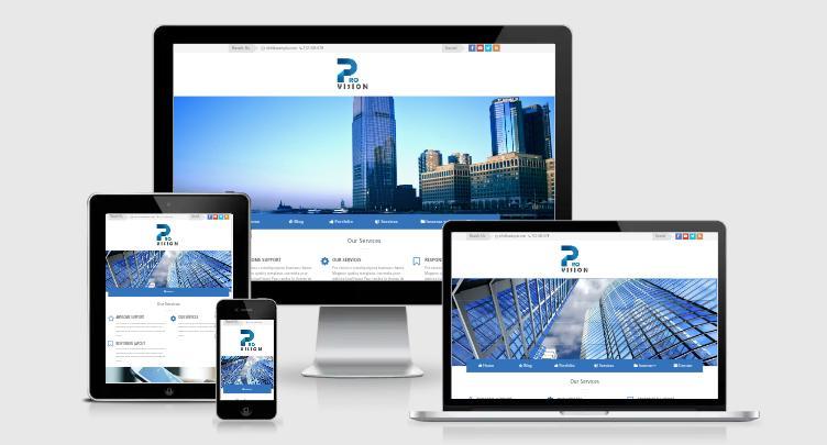 Theme Blogger ProVision Premium - Theme công ty đơn giản đủ tính năng