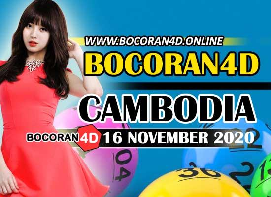 Bocoran 4D Cambodia 16 November 2020