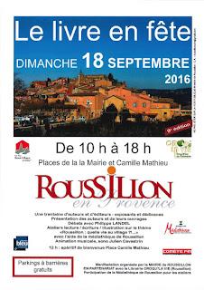 Affiche du livre en fête 2016 Roussillon en Provence