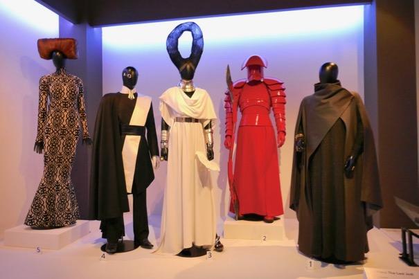 Star Wars Last Jedi movie costume exhibit