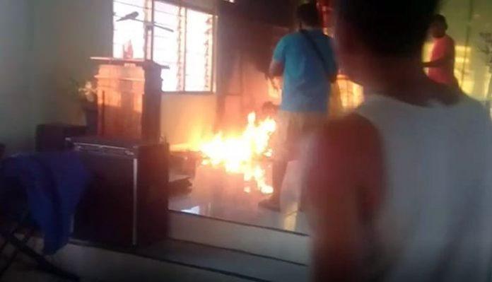 Diduga Dibakar Orang, 3 Patung di Kapela St. Yoseph Hangus Terbakar