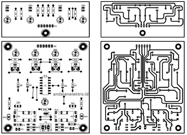 layout dan tata letak robot line follower analog