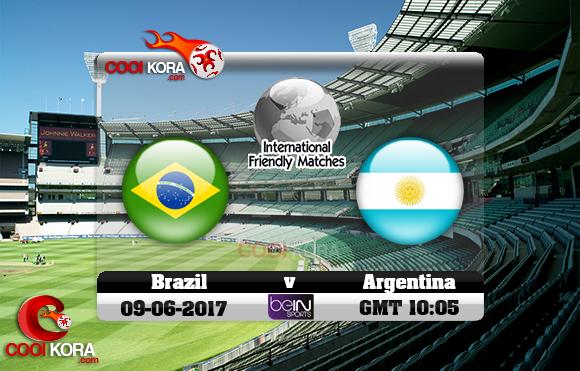 مشاهدة مباراة البرازيل والأرجنتين اليوم 9-6-2017 مباراة ودية