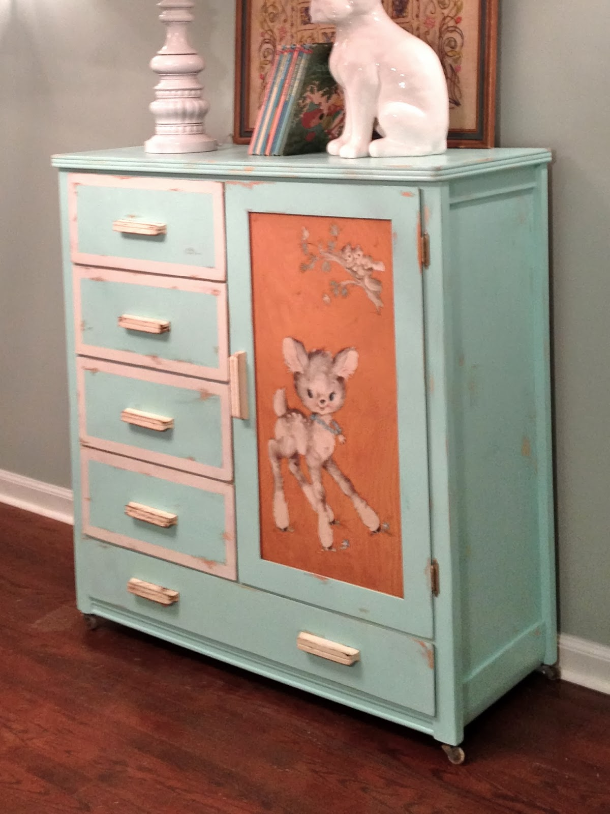 My First Etsy Listing Vintage Teal Dresser With Distressed Finish Crackerjack23