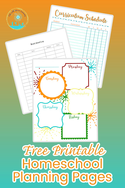 Free Printable Homeschool Planner Pages