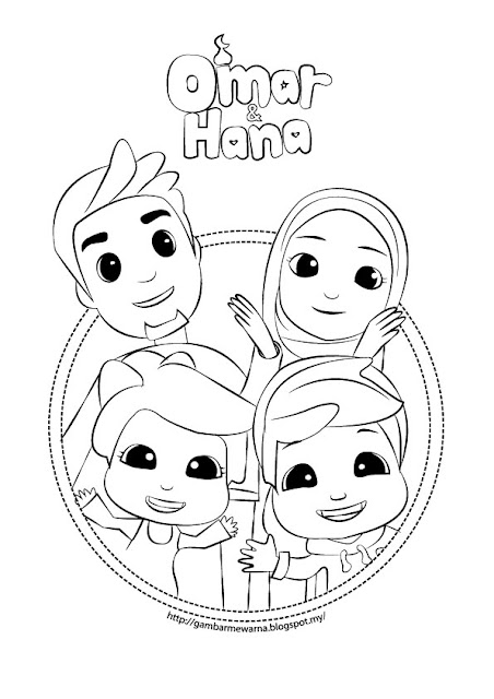 Gambar Mewarna Omar & Hana