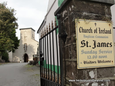 entry to St. James' Church in Dingle town, Ireland