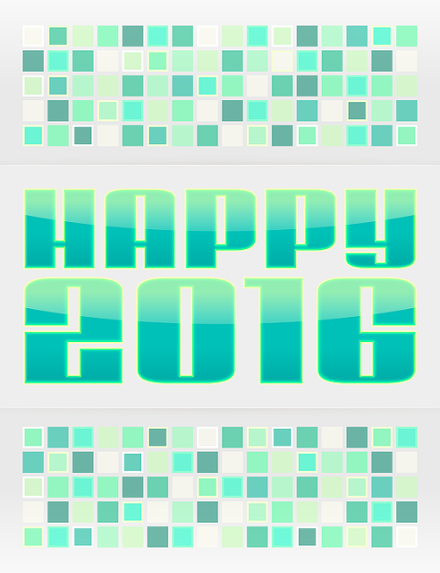 happy Islamic New Year greetings card 2016