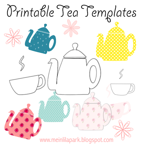photograph relating to Teapot Template Printable named Free of charge printable tea templates + electronic teapot stamp