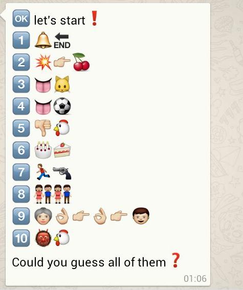 Naughty emoji combinations