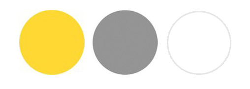 I Was Designing Some Business Cards For A Client Last Week And She Drew My Attention To This Awesome Color Palette Yellow Gray White
