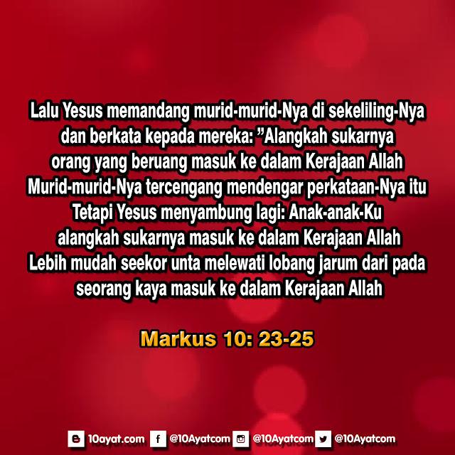 Markus 10: 23-25