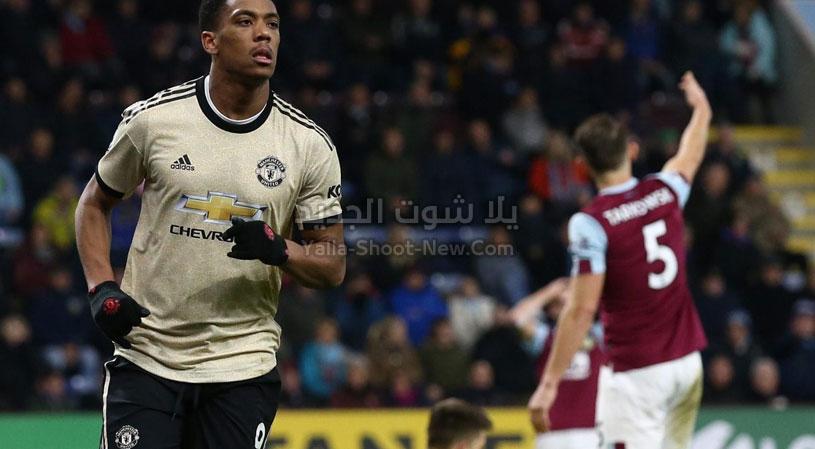 مانشستر يونايتد يعود بفوز ثمين من امام بيرنلي في الجولة 20 من الدوري الانجليزي