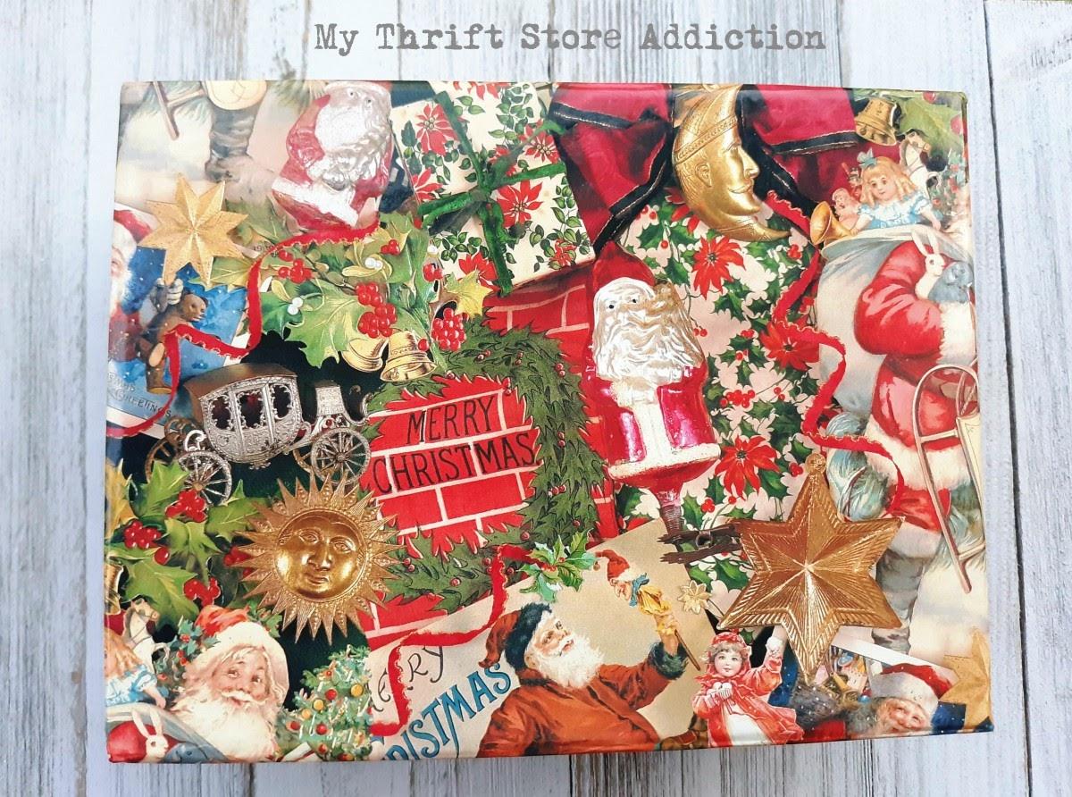 yard sale Christmas box