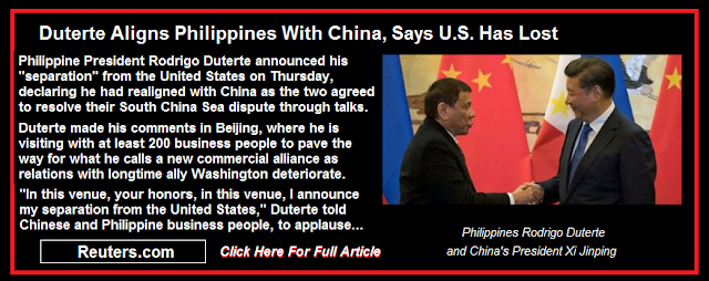 Duterte Aligns Philippines With China