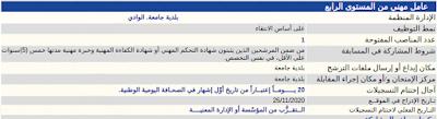 اعلان عن مسابقة توظيف بلدية جامعة الوادي