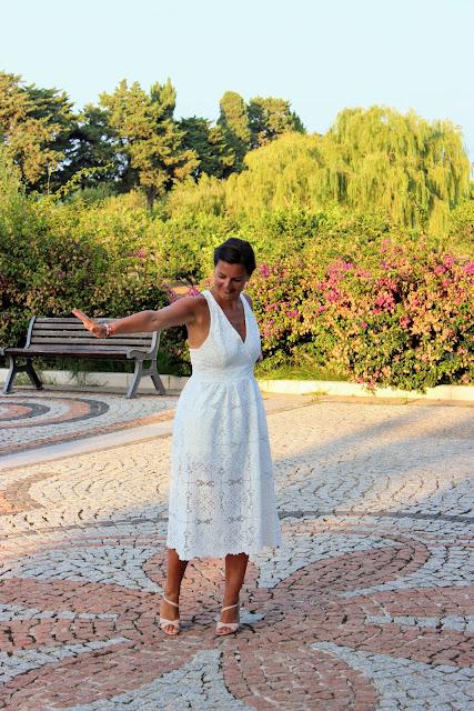 robe blanche maje, les petites bulles de ma vie, Sardaigne