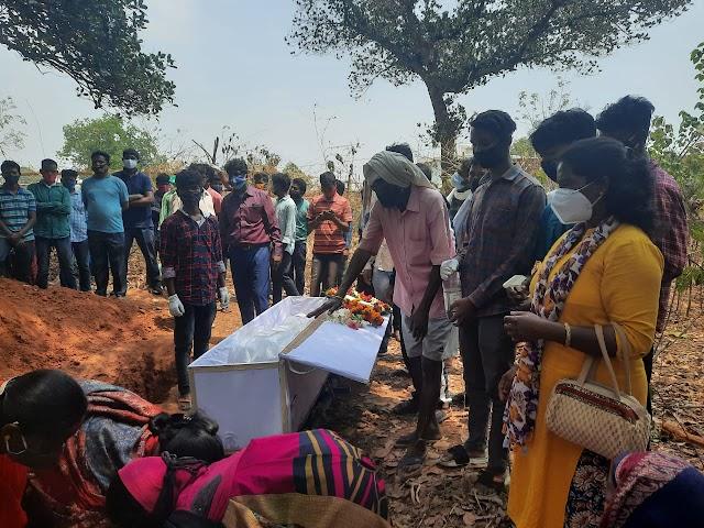 महिला थाना प्रभारी का रुपा  तिर्की का रांची में अंतिम संस्कार