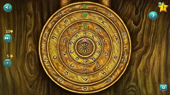 на дверях открываем замок с шифром  путем вращения кругов внутри