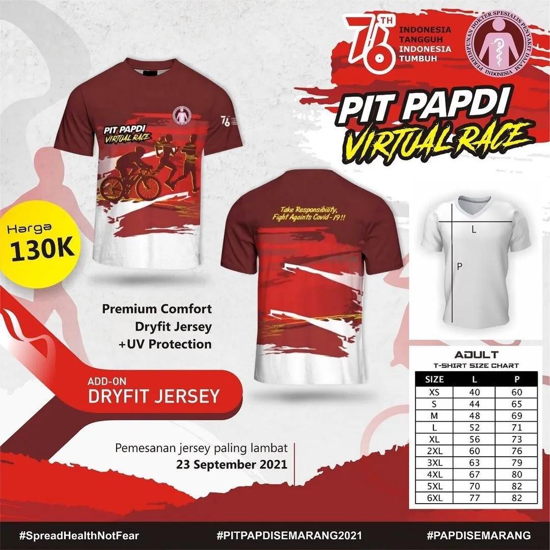 Jersey 👕 PIT PAPDI Virtual Race • 2021