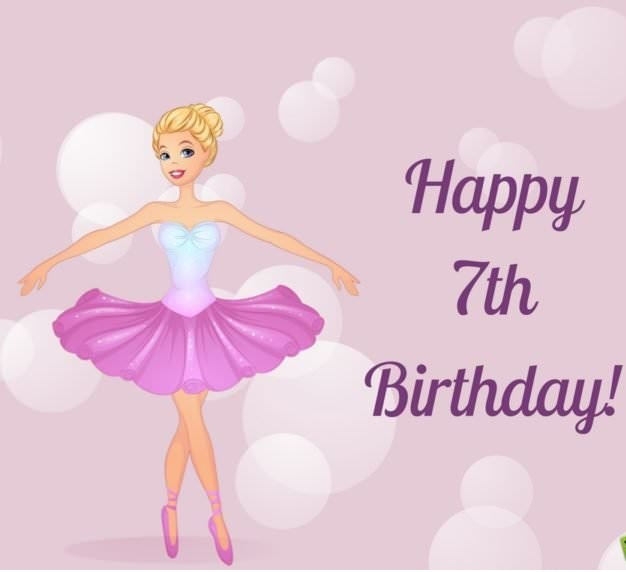 Happy 7th Birthday | Best wishes for a 7-year-old, child