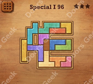 Cheats, Solutions, Walkthrough for Wood Block Puzzle Special I Level 96