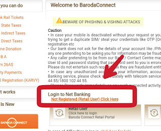 how to register for bank of baroda internet banking online