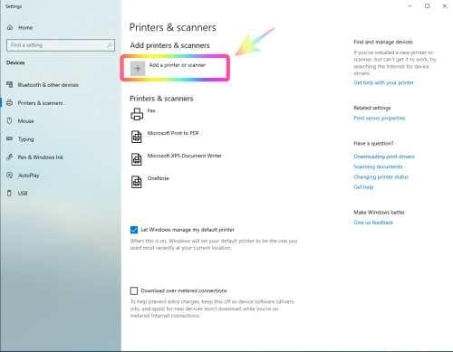 Menghubungkan Printer ke Laptop Windows 10