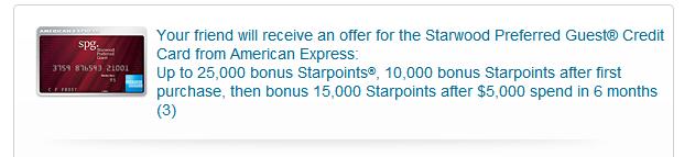 Amex SPG Sign up bonus email list