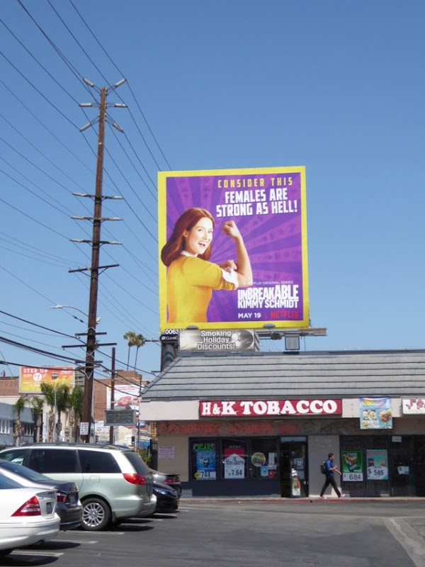 Kimmy Schmidt 3 Rosie the Riveter billboard