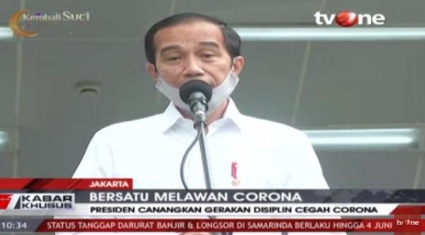 Putus Penyebaran COVID-19 Presiden Instruksikan Personil TNI dan Polri Turun Jaga Ruang Publik