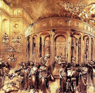 Detail from Ghiberti's second set of doors to the baptistery, which depicts scenes from the life of Joseph