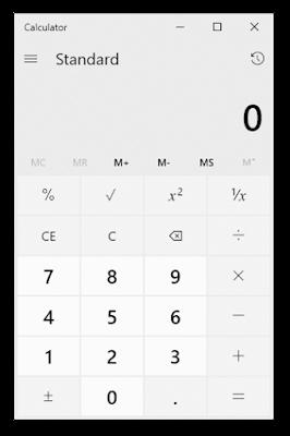 विंडोज एक्सेसरीज | कैलकुलेटर  (Calculator)