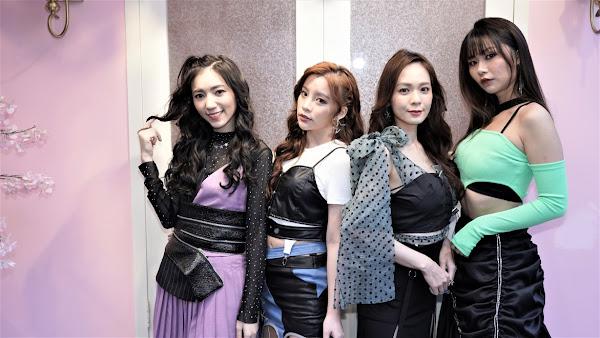 思羽(左起)鄞芽兒,縈縈,依依四位新星17LIVER共唱新歌愛覺醒