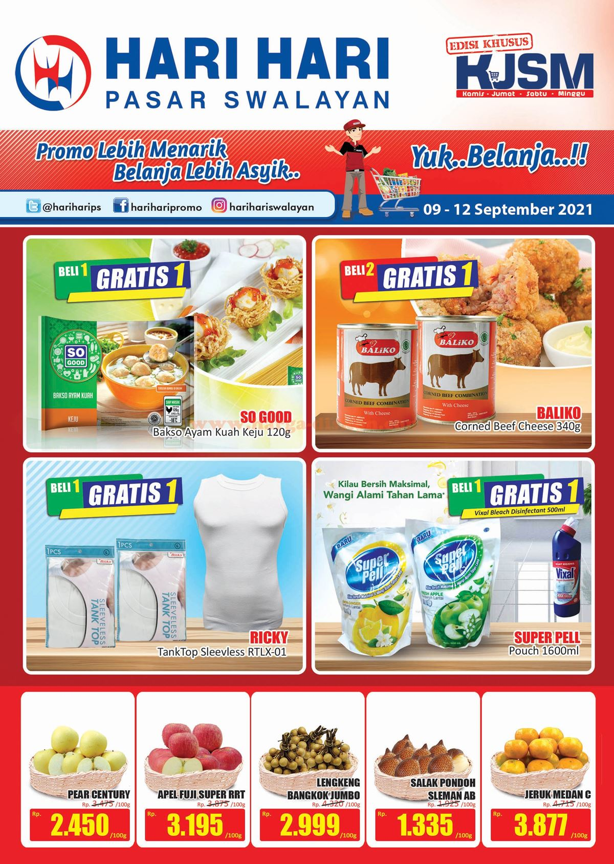 Promo HARI HARI Akhir Pekan Weekend Promo KJSM 09 - 12 September 2021