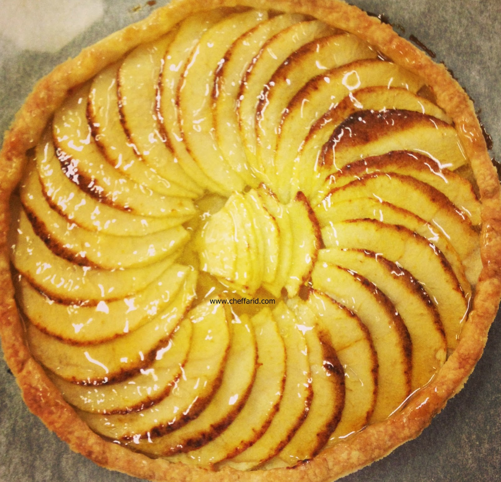 How to make french Apple tart   cheffarid