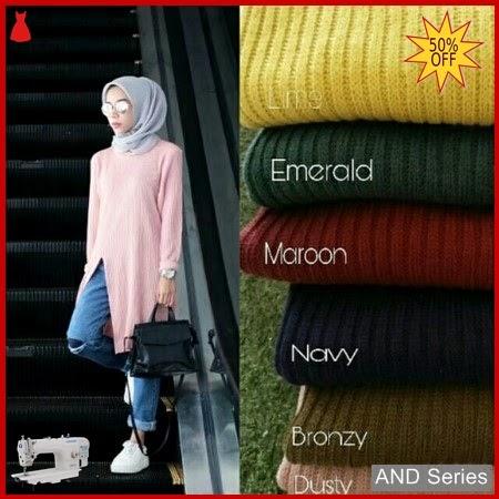 AND116 Baju Atasan Wanita Blouse Termurah Slit BMGShop