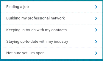 How to Select Linkedin Purpose