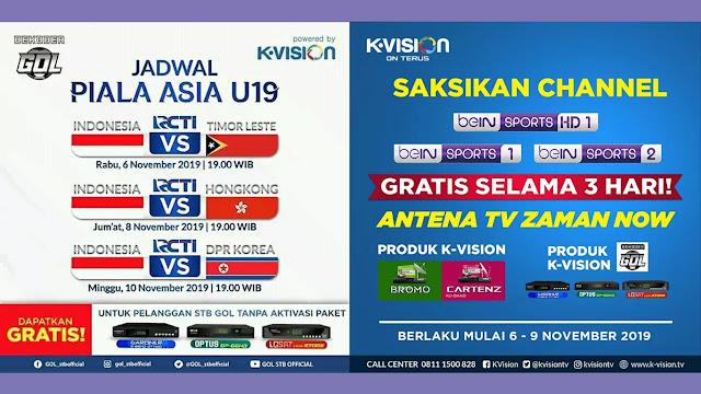 Kualifikasi AFC U-19 2020 di Parabola