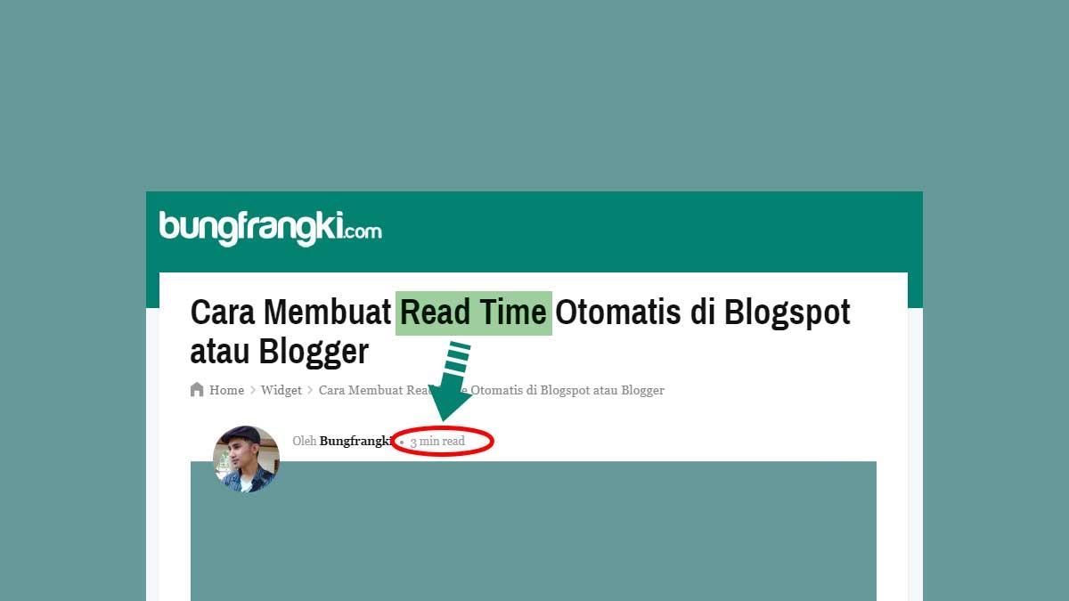 Cara Membuat Read Time Otomatis di Blogspot atau Blogger