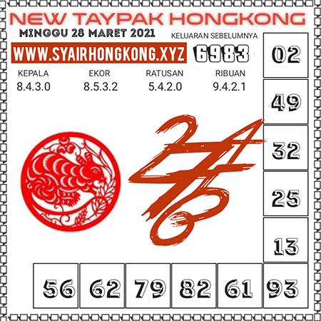 Prediksi New Taypak Hongkong Minggu 28 Maret 2021