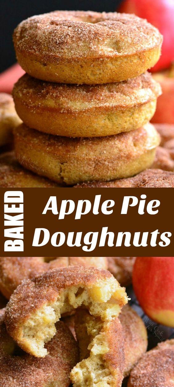 Apple Pie Baked Doughnuts