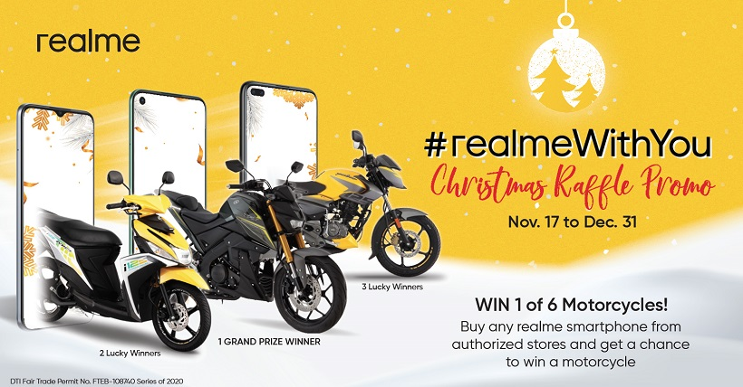 Win brand new motorcycle this Christmas season from realme Philippines.