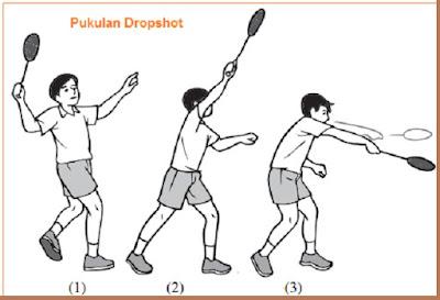 Pukulan dropshot dalam permainan bulutangkis (Badminton) - pustakapengetahuan.com