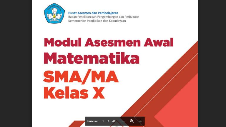 Modul Asesmen Diagnosis Di Awal Pembelajaran Matematika SD SMP SMA