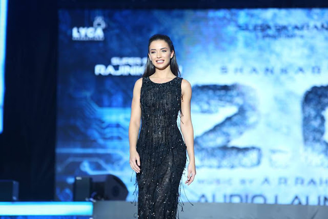 Amy Jackson Stills At Robo 2.0 Movie Audio Launch