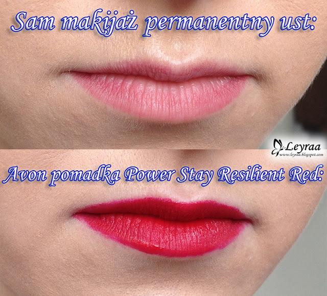 """Avon Power Stay Matowa szminka w płynie """"16 godzin"""" Resilient red"""