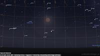 Koniunkcja Marsa we wielkiej opozycji z Księżycem w trakcie fazy maksymalnej całkowitego zaćmienia 27.07.2018 r. o godz. 22:21 CEST - Mapa dla Rzeszowa