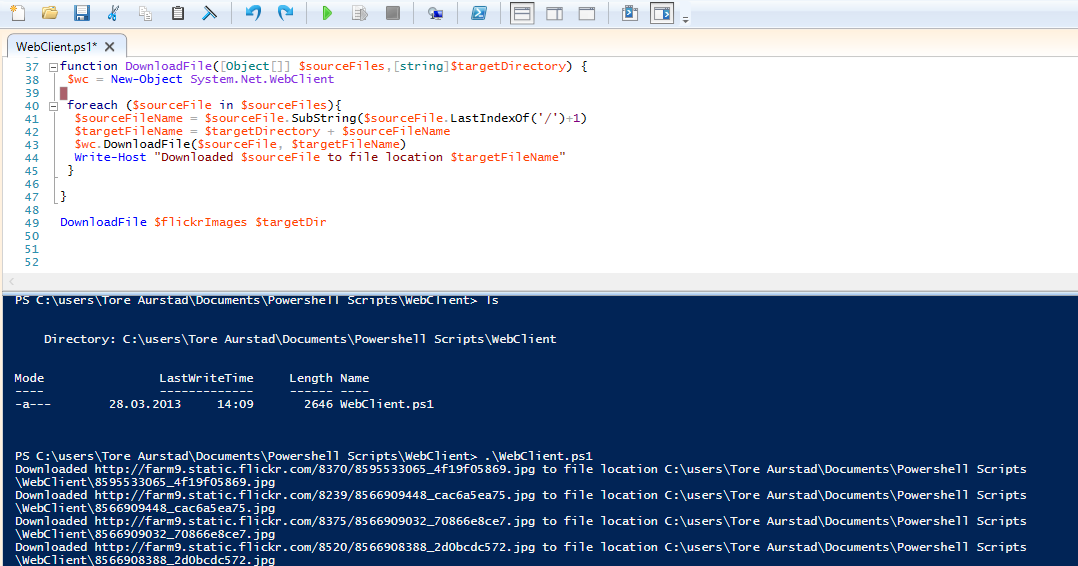 powershell array declaration